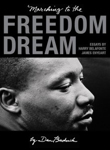 Marching to the Freedom Dream, book cover, published by Trolley Books, London 2014